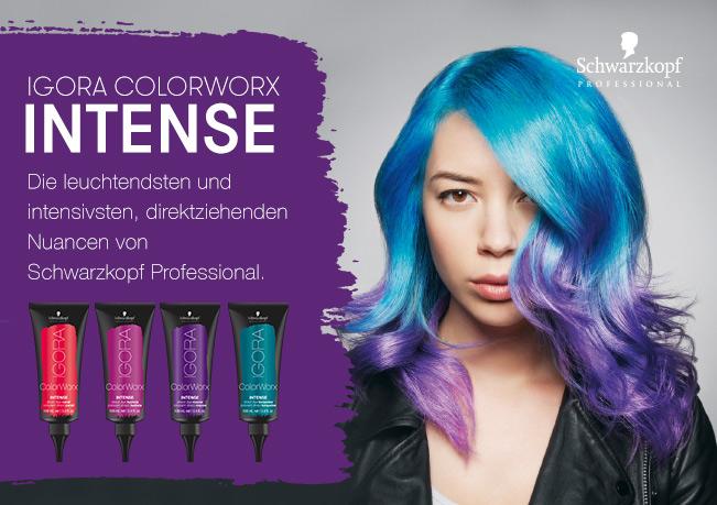 Schwarzkopf Colorworx: Die leuchtendsten & direkteinziehende Farben.