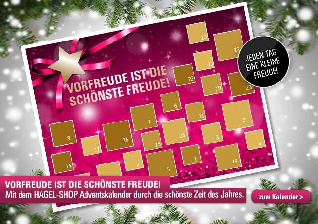 Der Hagel-Shop Adventskalender: 24 limitierte Überraschungen für Sie!