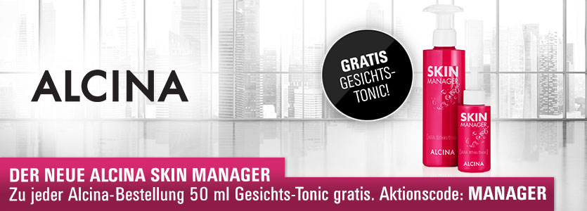 Der neue Alcina Skin Manager: Zu jeder Alcina-Bestellung 50 ml Gesichts-Tonic gratis!