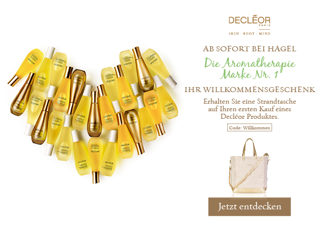 Ihr Willkommensgeschenk: Erhalten Sie eine Strandtasche auf Ihren ersten Kauf eines Decléor Produkts