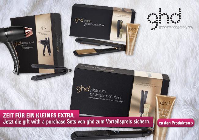 Zeit für ein kleines Extra: Jetzt die gift with purchase Sets von ghd zum Vorteilspreis sichern.