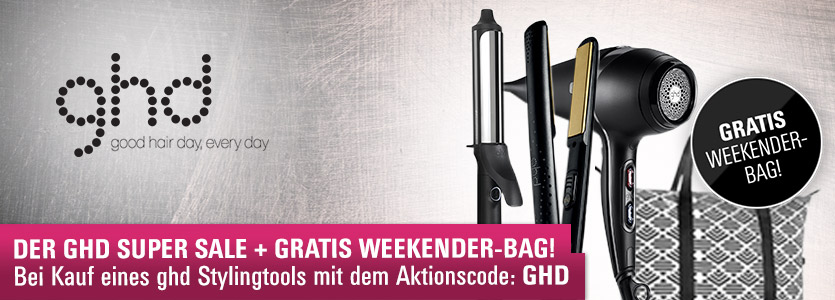 ghd Super Sale + gratis Tasche mit Aktionscode GHD