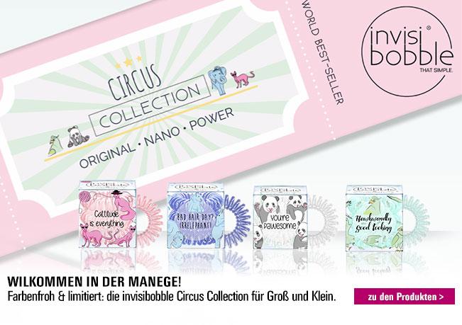 Invisibobble Circus Collection: Farbenfroh & limitiert - die Invisibobble Circus Collection für Groß & Klein.