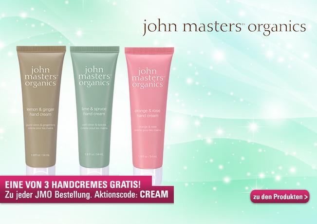 Sichern Sie sich jetzt eine von 3 Handcremes zu jeder John Masters Organics Bestellung ab 49€!