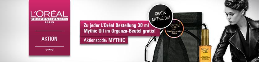 Loreal Mythic Oil 30 ml zu jeder Loreal Bestellung. Aktionscode MYTHIC eingeben und Geschenk sichern.