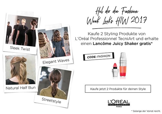 L'Oréal Wild Styles Powder-In-LotionKaufen Sie 2 L'Oréal Professionnel tecni.art Produkte und erhalten einen Lancome Juicy Shaker gratis dazu.