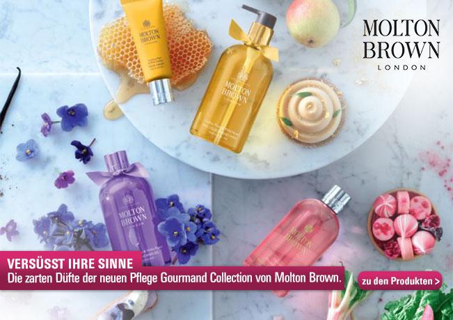 Versüsst Ihre Sinne: Die zarten Düfte der neuen Pflege Gourmand Collection von Molton Brown.