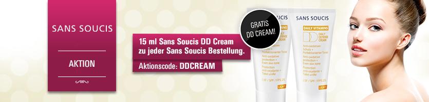 Gratis Sans Soucis DD Cream 15 ml zu jeder Sans Soucis Bestellung mit Aktionscode DDCREAM