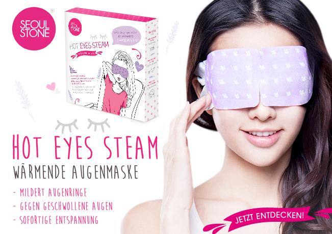 Seoul Stones Sorfort-Entspannung: Hot Eyes Steam hilft Augenmüdigkeit & verschlafenes Aussehen zu reduzieren.