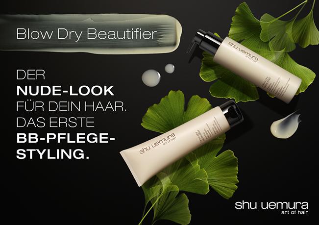 shu uemura Blow Dry Beautifier: Der Nude-Look für dein Haar. Das erste BB-Pflegestyling.