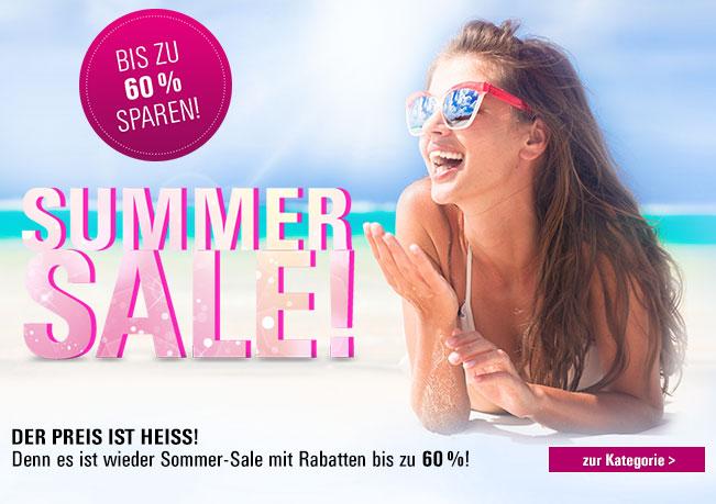 Sommer Sale: Sichern Sie sich jetzt bis zu 60% Rabatt.