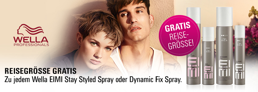 Reisegröße gratis - zu jedem Wella Stay Styled Spray oder Dynamic Fix Spray