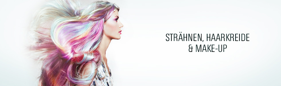 Strähnen, Haarkreide & Make-Up