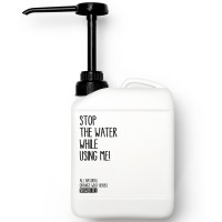 Stop the water while using me! All natural Orange Wild Herbs Shower Gel 2 l
