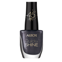 ASTOR Quick & Shine Nagellack 602 Lady in Black 8 ml