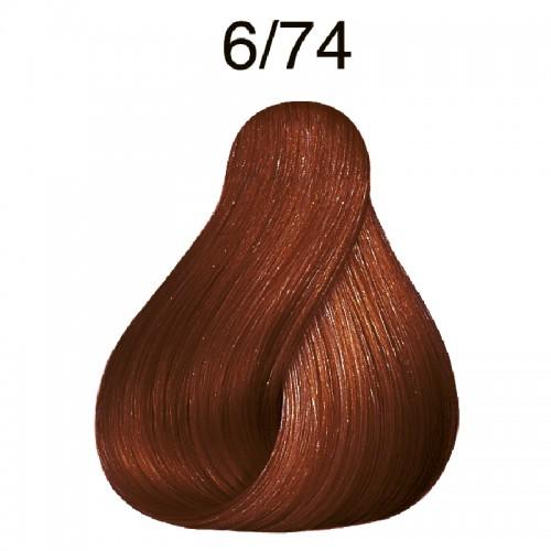 Wella Koleston 6/74 braun-rot