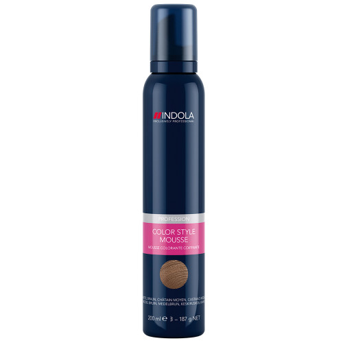 Indola Color Style Mousse Mittel Braun 200 ml