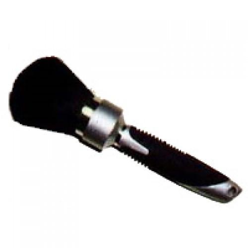 Efalock Nackenpinsel mit schwarz-silbernen Griff