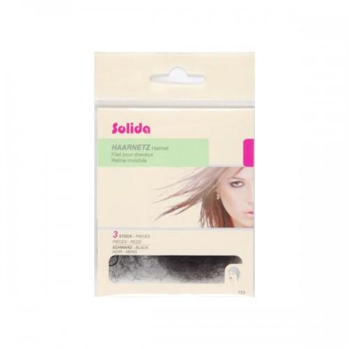 Solida Haarnetz mit Rundgummi schwarz