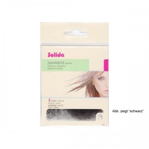 Solida Haarnetz mit Rundgummi dunkelbraun