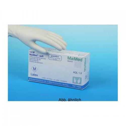 MaiMed Latexhandschuhe soft,glatt Größe  XL