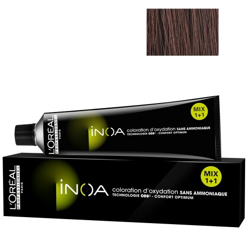 L'Oréal Professionnel INOA 4,45 mittelbraun kupfer mahagoni 60 ml