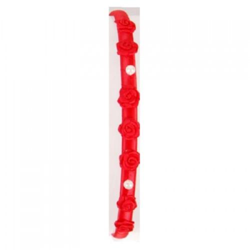 Solida Haarreifen Rosendekor, rot