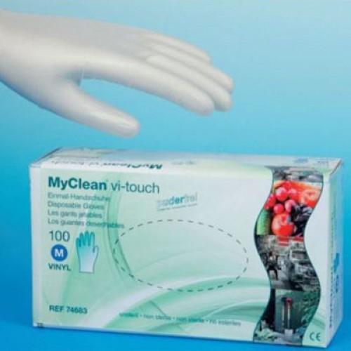 MaiMed MyClean vi-touch  Vinylhandschuhe Gr M 74683