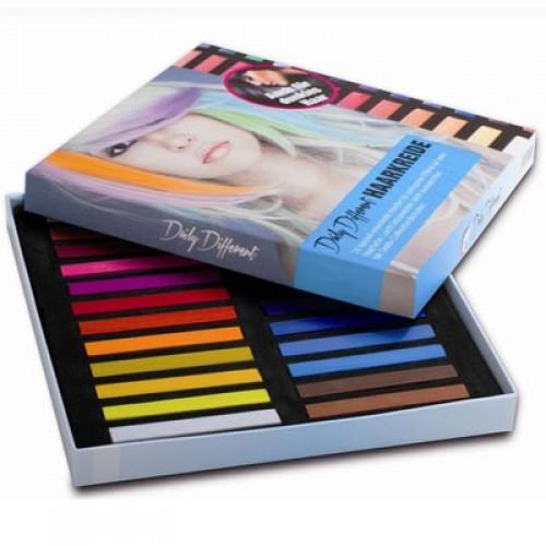 DailyDifferent Haarkreide 24 Farben Set