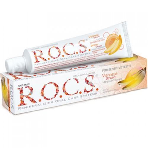 R.O.C.S. Mango- und Bananengeschmack Zahncreme