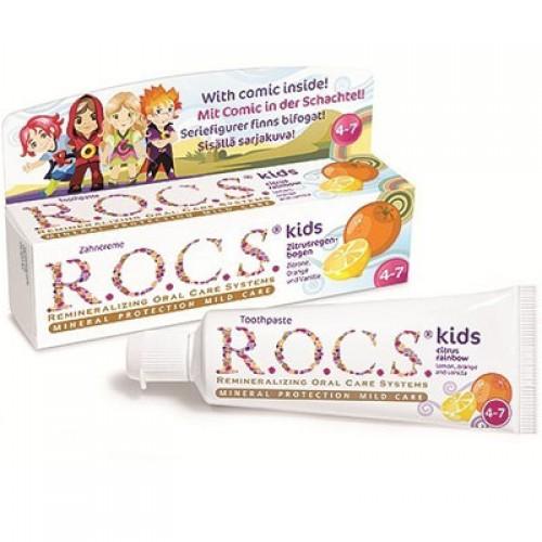 R.O.C.S. Zahncreme Kids Zitrusregenbogen