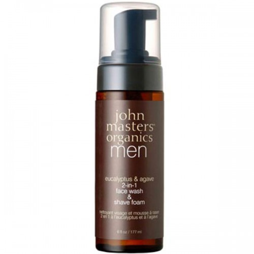 john masters Organics Eucalyptus & Agave 2 in 1 face wash & shave foam 177 ml