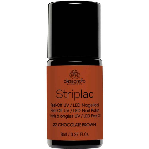 alessandro International Striplac 22 Chocolate Brown 8 ml