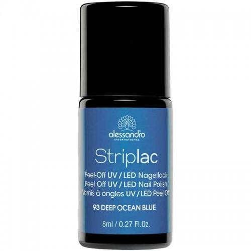 alessandro International Striplac 93 Deep Ocean Blue 8 ml