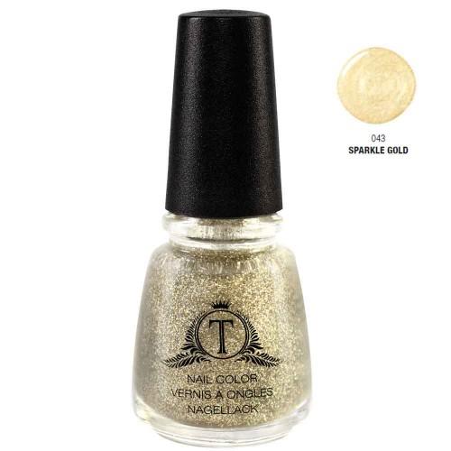 Trosani Topshine Nagellack 043 Sparkle Gold 17 ml