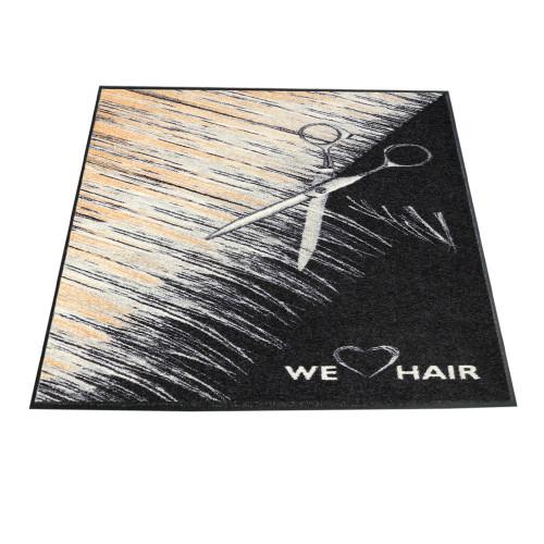 Trend-Design Türmatte We love Hair