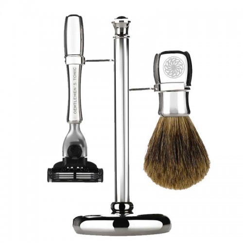 Gentlemen's Tonic Shaving Accesoire Mayfair Set Chrome