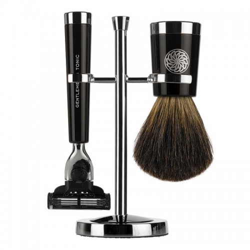 Gentlemen's Tonic Shaving Accesoire Savile Row Set Ebony