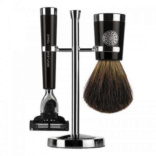 Gentlemen's Tonic Shaving Accesoire Savile Row Set Ebony
