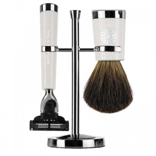 Gentlemen's Tonic Shaving Accesoire Savile Row Set Ivory