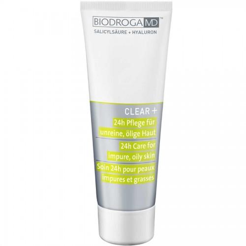 Biodroga MD Clear+ 24h Pflege für unreine, ölige Haut 75 ml