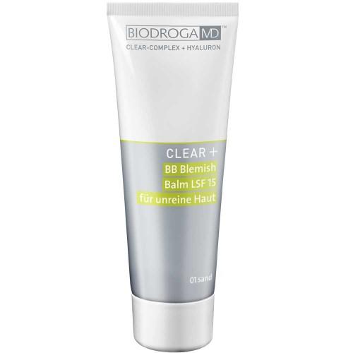 Biodroga MD Clear+ BB Blemish Balm LSF 15 01 sand 75 ml