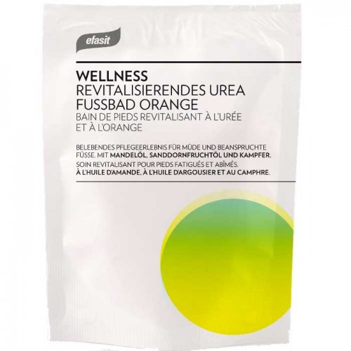 efasit WELLNESS Revitalisierendes Urea Fußbad Orange 40 g