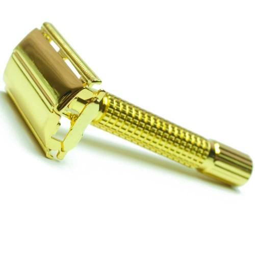 Golddachs Doppelklingen-Rasierer goldfarben