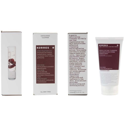 Korres Wild Rose Exfoliating Cleanser 150 ml