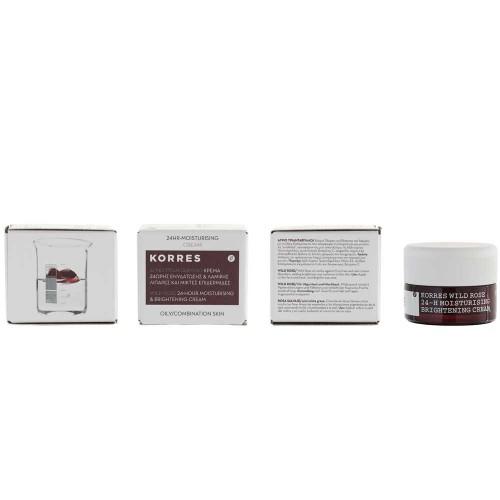 Korres Wild Rose 24h Feuchtigkeitscreme für ölige & Mischhaut 40 ml