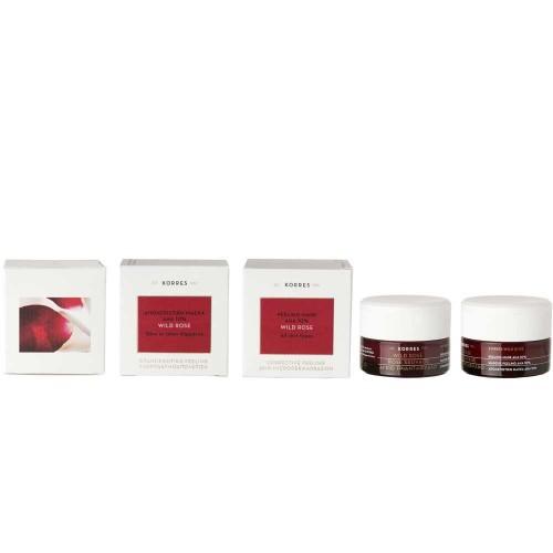 Korres Wild Rose Peeling Maske AHAS 10% 40 ml