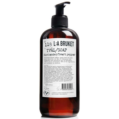 L:A BRUKET No. 118 Liquid Soap Koriander/Schwarzer Pfeffer 450 ml