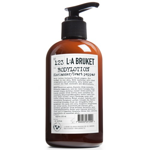 L:A BRUKET No.123 Body Lotion Koriander/Schwarzer Pfeffer 250 ml