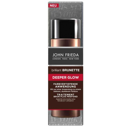 John Frieda Brilliant Brunette Deeper Glow Anwendung 34 ml